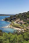 France, Provence-Alpes-Côte d'Azur, Saint-Tropez: beach Plage des Graniers   Frankreich, Provence-Alpes-Côte d'Azur, Saint-Tropez: Plage des Graniers unterhalb der Zitadelle