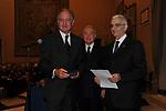 PIERO ANTINORI,  GIANNI LETTA E MAURIZIO PRATO<br /> PREMIO GUIDO CARLI - TERZA  EDIZIONE<br /> PALAZZO DI MONTECITORIO - SALA DELLA LUPA<br /> CON RICEVIMENTO  HOTEL MAJESTIC   ROMA 2012