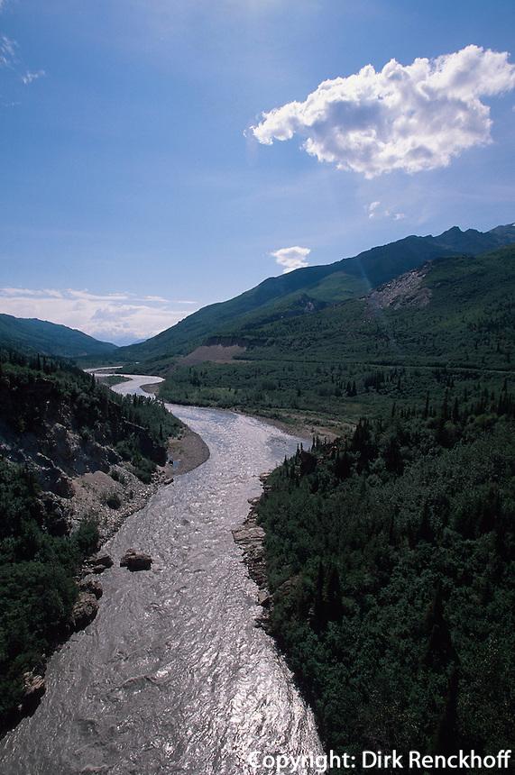 USA, Alaska, Nenana-River nahe des Denali Nationalpark