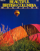 "BEAUTIFUL BRITISH COLUMBIA  Magazine Cover Story  ""Hot Air Highs"" - Ballooning in BC's Fraser Valley, written and photographed by Dale Sanders.  2000 Word Article and Photos."