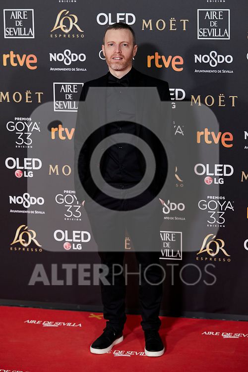 Oliver Arson attends to 33rd Goya Awards at Fibes - Conference and Exhibition  in Seville, Spain. February 02, 2019. (ALTERPHOTOS/A. Perez Meca)