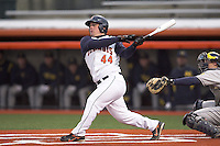 April 11, 2008:  University of Illinois Fighting Illini starting outfielder Casey McMurray (44) against the University of Michigan Wolverines at Illinois Field in Champaign, IL.  Photo by:  Chris Proctor/Four Seam Images