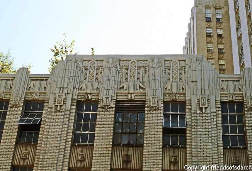 St. Louis: Park-Plaza Hotel: Maryland side--detail. St. Louis Landmark built in 1920's. Photo '78.