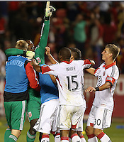 Bill Hamid (GK) of D.C. United celebrate their win over of Real Salt Lake at the U.S. Open Cup Final on October  1, 2013 at Rio Tinto Stadium in Sandy, Utah. DC United beat Real Salt Lake 1-0 to win the championship.