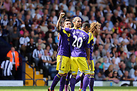Pictured L-R: Pablo Hernandez of Swansea celebrating his goal with team mates Chico Flores, Jonathan de Guzman and Jose Canas.<br /> Sunday 01 September 2013<br /> Re: Barclay's Premier League, West Bromwich Albion v Swansea City FC at The Hawthorns, Birmingham, UK.