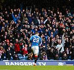 Michael O'Halloran celebrates his goal