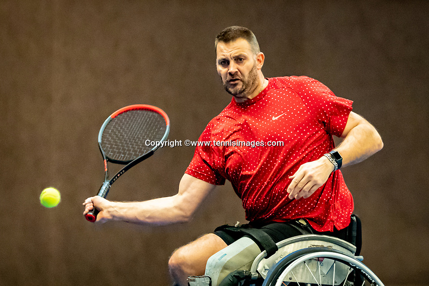 Alphen aan den Rijn, Netherlands, December 21, 2019, TV Nieuwe Sloot,  NK Tennis, Men's singles wheelchair semifinal: Ricky Molier (NED)<br /> Photo: www.tennisimages.com/Henk Koster