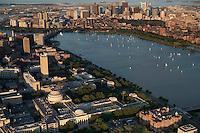 MIT campus. Cambridge and Boston, aerial,  MA