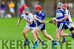 Ruairi O'Sullivan of Tralee Parnells keeping a close eye on  St Brendans Padraig O'Connor as he attempts to get his shot away in the Intermediate Hurling Championship