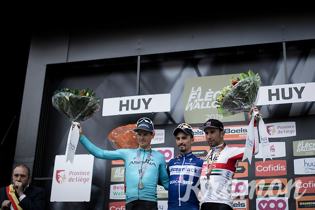 podium:<br /> <br /> 1st place: Julian Alaphilippe (FRA/Deceuninck Quick Step)<br /> 2nd place: Jakob Fuglsang (DEN/Astana)<br /> 3th place: Diego Ulissi (ITA/UAE)<br /> <br /> <br /> <br /> 83th Flèche Wallonne 2019 (1.UWT)<br /> 1 Day Race: Ans – Huy 195km<br /> <br /> ©kramon