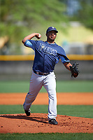 Tampa Bay Rays Jose Mujica (40) during a minor league Spring Training intrasquad game on April 1, 2016 at Charlotte Sports Park in Port Charlotte, Florida.  (Mike Janes/Four Seam Images)