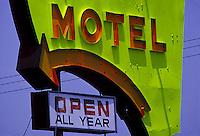 Motel sign<br />