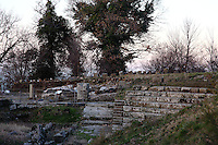 Tuscolo (near Monte Compatri): A view of the ancient theater in the archeological park, in the sunset light.