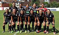 MEDELLÍN - COLOMBIA ,13-07-2019:Formación del Once Caldas Femenino.Acción de juego entre los equipos Atlético Nacional femenino y el Once Caldas femenino  durante partido por la fecha 1 de la Liga  Águila Femenina 2019 jugado en el estadio Atanasio Girardot de la ciudad de Medellín. /Team of Once Caldas womens.Action game between Atletico Nacional womens and Once Caldas womens during match for date 1 of the women's soccer championship of La Liga Águila 2019 played at the Atanasio Girardot stadium in the city of Medellín. Photo: VizzorImage / Cristian Álvarez / Contribuidor.