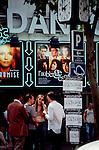 Paris, France, Friends meet at a metro stop along Boulevard St Germain, 6th Arrondissement,