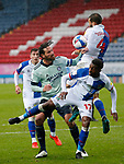 03.10.20 - Blackburn Rovers v Cardiff City - Sky Bet Championship - Sean Morrison of Cardiff is prevented from reaching the ball from a corner kick