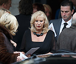 Sandy Jardine's wife Shona after the ceremony in Edinburgh