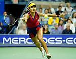 September  9, 2021:  Emma Raducanu (GBR) defeated Maria Sakkari (GRE) 6-1, 6-4, at the US Open being played at Billy Jean King National Tennis Center in Flushing, Queens, New York / USA  ©Jo Becktold/Tennisclix/CSM/CSM