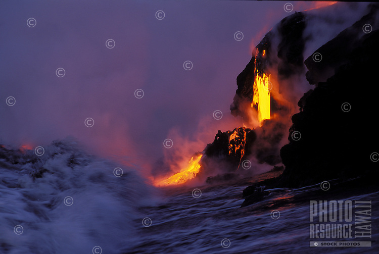 Lava enters the sea, Big Island