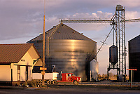 Kadoka, South Dakota, Depot Museum (former RR station), grain storage silo, small town near Badlands National Park.