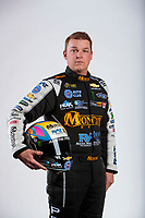 Feb 5, 2020; Pomona, CA, USA; NHRA top fuel driver Austin Prock poses for a portrait during NHRA Media Day at the Pomona Fairplex. Mandatory Credit: Mark J. Rebilas-USA TODAY Sports
