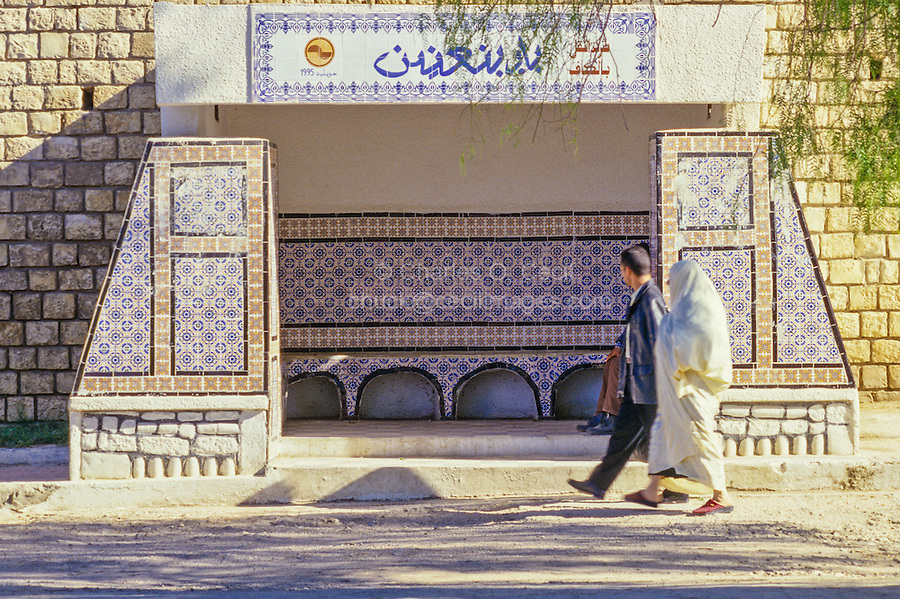 Ceramics, Le Kef, Tunisia.  Ceramic Tiles Decorate Public Bus Stops.