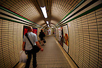 Underground tunnel, London, England, United Kingdom, Great Britain