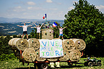 Fans at the roadside during Stage 10 of the 2019 Tour de France running 217.5km from Saint-Flour to Albi, France. 15th July 2019.<br /> Picture: ASO/Pauline Ballet | Cyclefile<br /> All photos usage must carry mandatory copyright credit (© Cyclefile | ASO/Pauline Ballet)