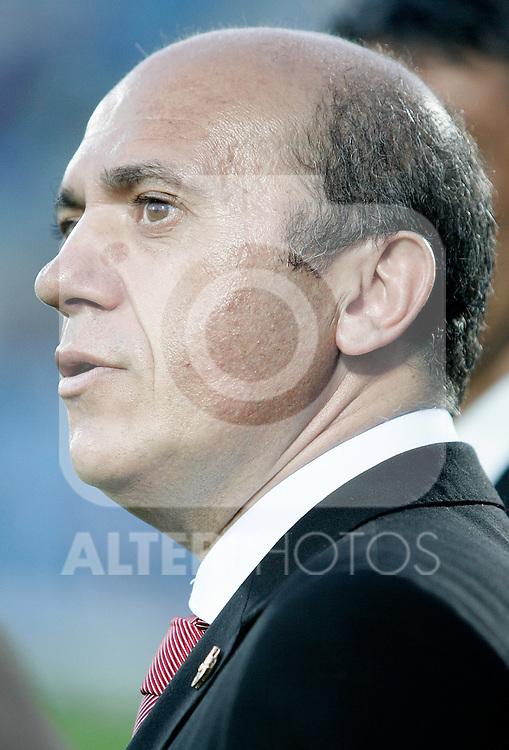 Sevilla's President Jose Marial del Nido during La Liga match, April 18, 2010. (ALTERPHOTOS/Alvaro Hernandez).
