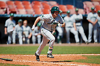 Dartmouth Big Green first baseman Michael Calamari (3) runs to first base during a game against the Bradley Braves on March 21, 2019 at Chain of Lakes Stadium in Winter Haven, Florida.  Bradley defeated Dartmouth 6-3.  (Mike Janes/Four Seam Images)