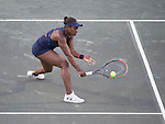 April  7, 2016:  Sloane Stephens (USA) battles against Daria Gavrilova (AUS) , at the Volvo Car Open being played at Family Circle Tennis Center in Charleston, South Carolina.  ©Leslie Billman/Tennisclix/Cal Sport Media