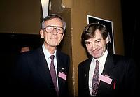 David Payne (D) et Jean Campeau<br /> , Caisse de depot et placement du Quebec.  Il fut aussi candidat du PQ<br /> <br /> PHOTO : Agence Quebec Presse