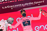 World Champion Filippo Ganna (ITA) Ineos Grenadiers wins Stage 1 and wears the first leaders Maglia Rosa of the 2021 Giro d'Italia, and individual time trial running 8.6km around Turin, Italy. 8th May 2021.  <br /> Picture: LaPresse/Massimo Paolone   Cyclefile<br /> <br /> All photos usage must carry mandatory copyright credit (© Cyclefile   LaPresse/Massimo Paolone)