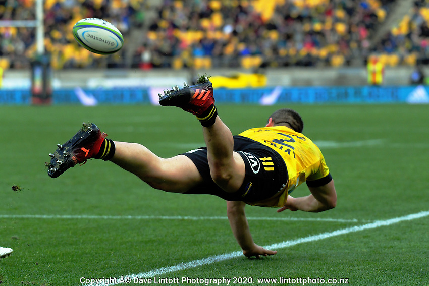 Dane Coles tries to keep the ball in during the Super Rugby Aotearoa match between the Hurricanes and Crusaders at Sky Stadium in Wellington, New Zealand on Saturday, 21 June 2020. Photo: Dave Lintott / lintottphoto.co.nz