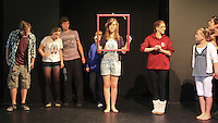 """The Yvonne Arnaud Youth Theatre rehearsing """"The Lion, the Witch and the Wardrobe"""", Guildford, Surrey."""