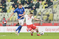 Danzica Nations League Gruppo A Polonia Italia Football - UEFA Nations League group A match Poland - Italy N/Z SEBASTIAN SZYMANSKI ANDREA BELOTTI FOT MATEUSZ SLODKOWSKI / FOTONEWS / NEWSPIX.PL --- Newspix.pl PUBLICATIONxNOTxINxPOL 20201011FNMS43<br /> ITALY ONLY
