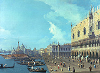"""Venice:  """"A View of Venice""""  by Canaletto.   The Huntington Museum.  Reference only."""
