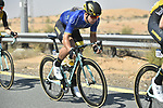 The peloton including race leader Dylan Groenewegen (NED) Team Lotto NL-Jumbo during Stage 3 The Silicon Oasis Stage of the Dubai Tour 2018 the Dubai Tour's 5th edition, running 180km from Skydive Dubai to Fujairah, Dubai, United Arab Emirates. 7th February 2018.<br /> Picture: LaPresse/Fabio Ferrari   Cyclefile<br /> <br /> <br /> All photos usage must carry mandatory copyright credit (© Cyclefile   LaPresse/Fabio Ferrari)