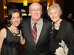 From left: Stacie Cokinos with Dr. Russ Hollenbeck and his wife Ginger at the San Jose Clinic Art with Heart Gala at the InterContinental Hotel Saturday May 15,2010.  (Dave Rossman Photo)