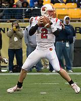 November 08, 2008: Louisville quarterback Matt Simms. The Pitt Panthers defeated the Louisville Cardinals 41-7 on November 08, 2008 at Heinz Field, Pittsburgh, Pennsylvania.