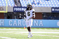 CHAPEL HILL, NC - NOVEMBER 14: Ja'Sir Taylor #6 of Wake Forest lines up for a play during a game between Wake Forest and North Carolina at Kenan Memorial Stadium on November 14, 2020 in Chapel Hill, North Carolina.