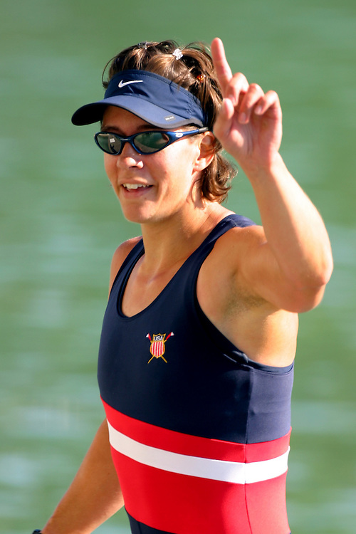 US Women's Four, W4-, FISA 2003 World Rowing Championships, Milan, Italy, Crew from bow: Liane Malcos, Whitney Webber, Caryn Davies, Wendy Wilbur, 1st Place: 6:53.08