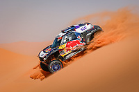 5th January 2021; Dakar Rally stage 3; 300 Sainz Carlos (esp), Cruz Lucas (esp), Mini, X-Raid Mini JCW Team, Auto, action during the 3rd stage of the Dakar 2021 between Wadi Al Dawasir and Wadi Al Dawasir, in Saudi Arabia on January 5, 2021