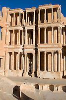 Sabratha, Libya, North Africa - Roman ruins.  Construction begun 190 A.D., earthquake destroyed 365 A.D., reconstructed 1920s.