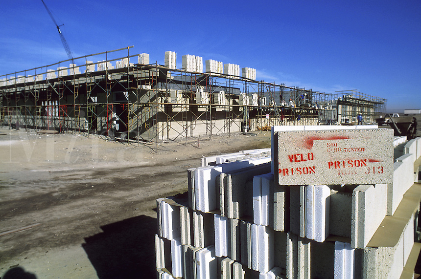 New prison construction in the Western United States, exterior insulated concrete block. Western United States.