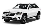 2020 Mercedes Benz GLC-Class GLC300 5 Door SUV Angular Front automotive stock photos of front three quarter view