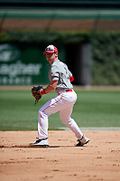 Cayden Wallace (2) during the Under Armour All-America Game, powered by Baseball Factory, on July 22, 2019 at Wrigley Field in Chicago, Illinois.  Cayden Wallace attends Greenbrier High School in Greenbrier, Arkansas and is committed to the University of Arkansas.  (Mike Janes/Four Seam Images)