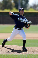 Erik Davis  - San Diego Padres - 2009 spring training.Photo by:  Bill Mitchell/Four Seam Images