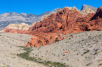Red Rock Canyon, Nevada.  Calico Hills, Aztec Sandstone.