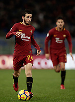 Calcio, Serie A: AS Roma vs Cagliari, Roma, stadio Olimpico, 16 dicembre 2017.<br /> Roma's Alessandro Florenzi in action during the Italian Serie A football match between AS Roma and Cagliari at Rome's Olympic stadium, December 16, 2017.<br /> UPDATE IMAGES PRESS/Isabella Bonotto